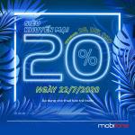 Mobifone khuyến mãi 22/7/2020 Ngày vàng nạp thẻ tặng thêm data