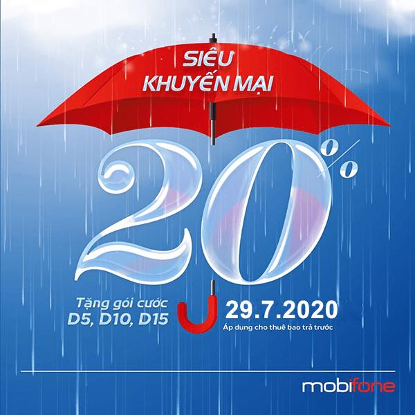 Mobifone khuyến mãi 29/7/2020 NGÀY VÀNG nạp thẻ tặng TK khuyến mãi tặng thêm data