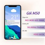 Đăng ký gói cước M50 Mobifone nhận ngay 4GB data chỉ với 50k/tháng