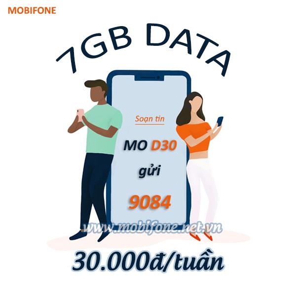 Đăng ký gói cước D30 Mobifone nhận ưu đãi khủng chỉ 30.000đ có ngay 7GB data