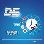 Cách đăng ký gói D5 Mobifone miễn phí 1GB data chỉ với 5k/ngày