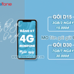 Cách đăng ký gói 4G Mobifone ngắn ngày 3 ngày/ 7 ngày data siêu hấp dẫn