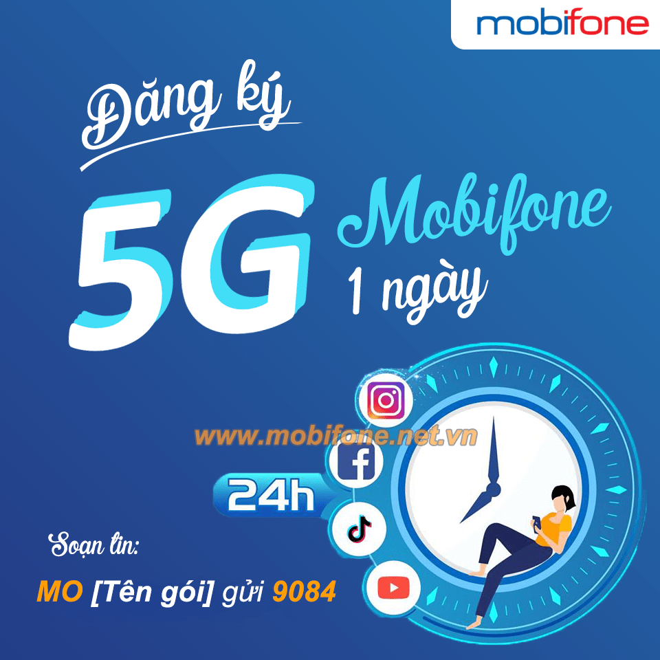 Cách đăng ký 5G Mobifone 1 ngày giá rẻ data khủng