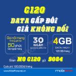 Đăng ký gói C120 Mobifone tặng ngay 120GB data (4GB/ngày) và triệu phút gọi FREE