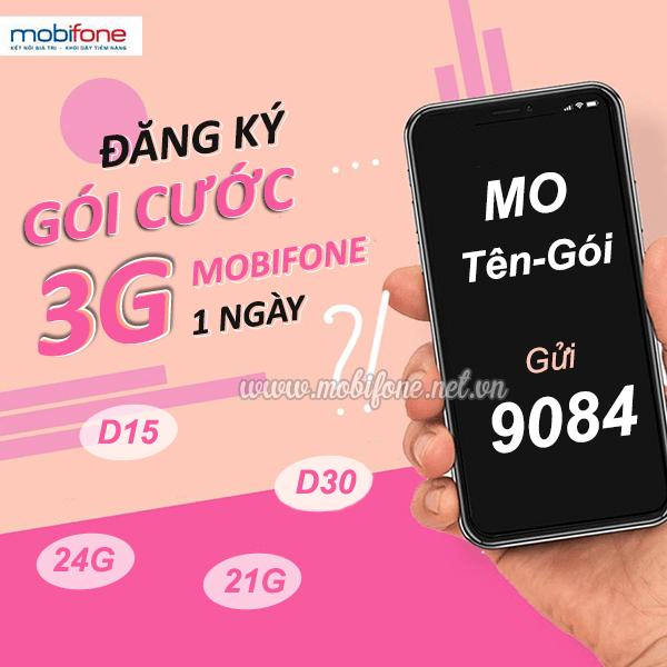 Đăng ký gói cước 3G Mobifone 1 ngày siêu ưu đãi thả ga kết nối mạng