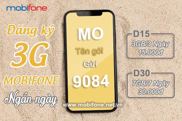 Cách đăng ký gói cước 3G Mobifone ngắn ngày 3 - 7 ngày chỉ với 5k/ngày
