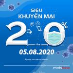 Mobifone khuyến mãi 5/8/2020 ưu đãi NGÀY VÀNG tặng 20% tiền nạp