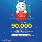Cách đăng ký gói C120N Mobifone miễn phí 120GB (4GB/ngày) triệu phút gọi miễn phí