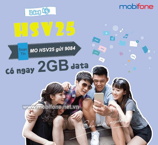 Cách đăng ký gói HSV25 Mobifone nhận ngay 2GB data kèm giải trí học tập online thả ga