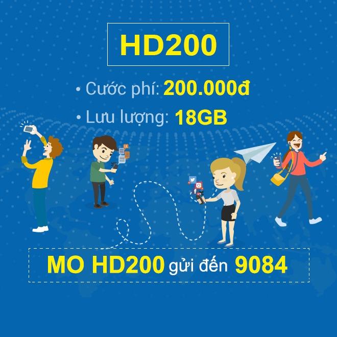Đăng ký gói HD200 Mobifone ưu đãi 18GB data chỉ với 200k/tháng