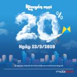 Mobifone khuyến mãi 23/9/2020 NGÀY VÀNG toàn quốc nạp thẻ tặng 20%
