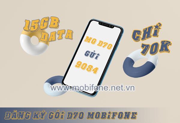 Cách đăng ký gói D70 Mobifone có ngay 15GB data chỉ 70.000đ/tháng