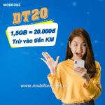 Cách đăng ký gói DT20 Mobifone nhận 1,5GB data giá chỉ 20.000đ trừ vào TKKM