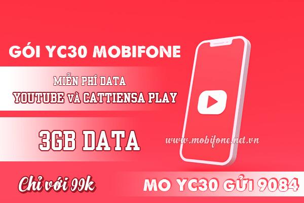 Cách đăng ký gói cước YC30 Mobifone