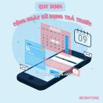 Quy định cộng ngày sử dụng Mobifone cho thuê bao trả trước