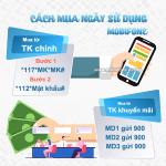 Cách mua ngày sử dụng Mobifone từ tài khoản chính và tài khoản khuyến mãi