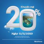 Mobifone khuyến mãi ngày 11/11/2020 ưu đãi NGÀY VÀNG tặng 20% giá trị tiền nạp