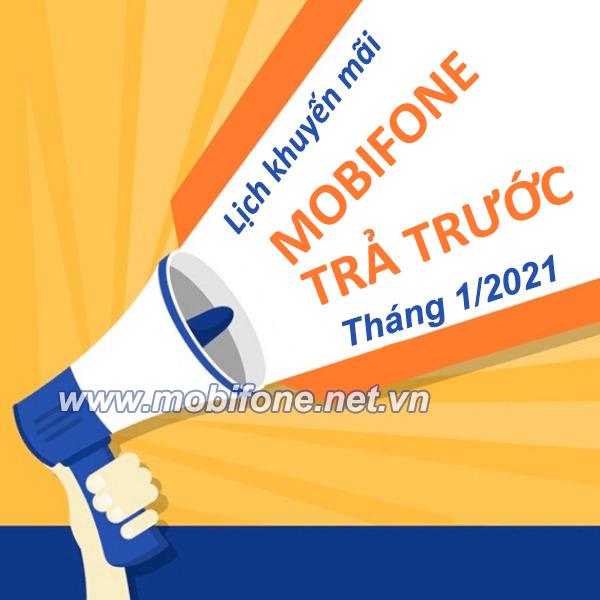 Lịch khuyến mãi nạp thẻ Mobifone trả trước tháng 1/2021ưu đãi 20% giá trị thẻ nạp