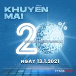 Mobifone khuyến mãi 13/1/2021 ưu đãi NGÀY VÀNG tặng 20% giá trị tiền nạp