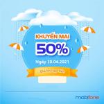 Mobifone khuyến mãi 30/4/2021 tặng 20 - 50% giá trị thẻ nạp