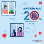 Mobifone khuyến mãi 4/8/2021 ngày vàng nạp thẻ tặng 20%