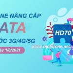 Mobifone nâng cấp data các gói 3G/4G/5G kể từ ngày 1/8/2021