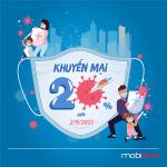 Mobifone khuyến mãi 2/9/2021 NGÀY VÀNG tặng 20% giá trị thẻ nạp