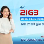 Cách đăng ký gói 21G3 Mobifone chỉ 177.000đ có ngày 225GB