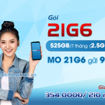Đăng ký gói 21G6 Mobifone trọn gói 525GB data dùng trong 7 tháng