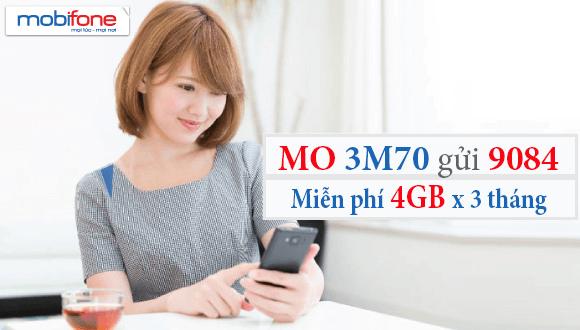 Đăng ký gói cước 3M70 Mobifone chỉ 210.000đ/3 tháng