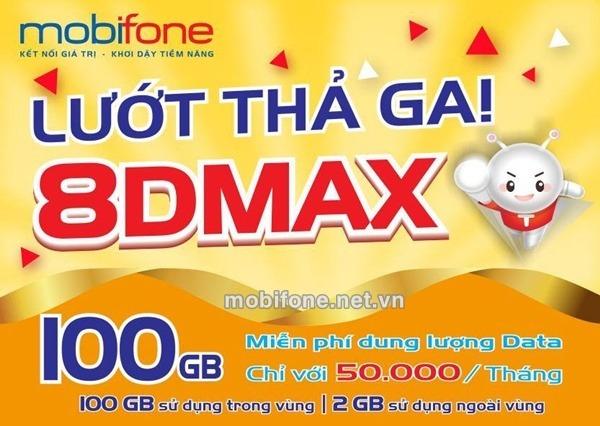 Đăng ký gói cước 8DMAX Mobifone chỉ 50.000đ/tháng