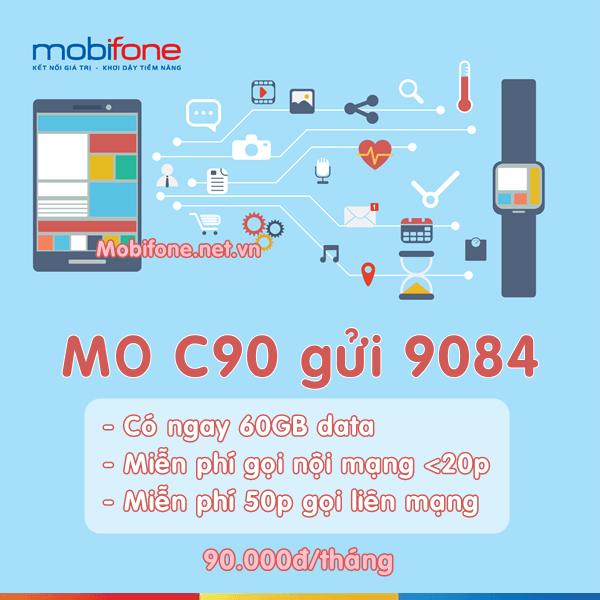 Gói cước C90 Mobifone ưu đãi data và gọi thoại