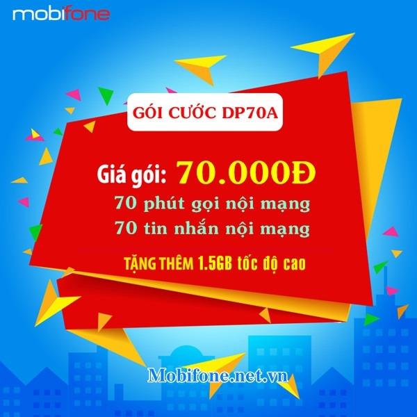 Cách đăng ký gói DP70A Mobifone nhận ưu đãi 3 trong 1