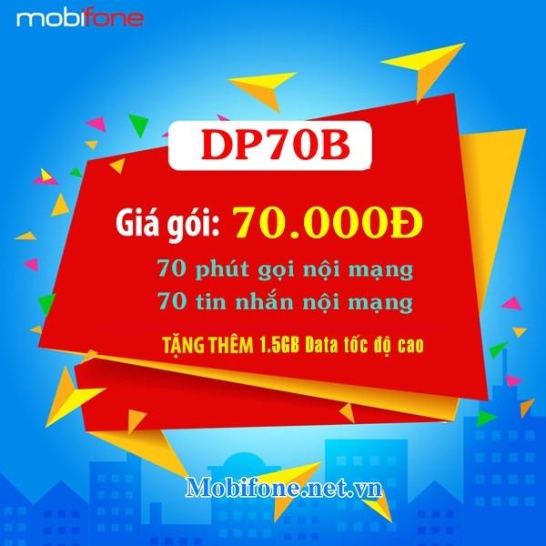 Đăng ký gói cước DP70B Mobifone