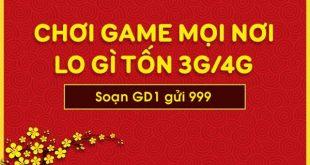 Đăng ký gói cước GD1 Mobifone chơi game online miễn phí data