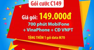 Gói C149 Mobifone gói cước mua thêm cho thuê bao trả sau MobiF Mobifone