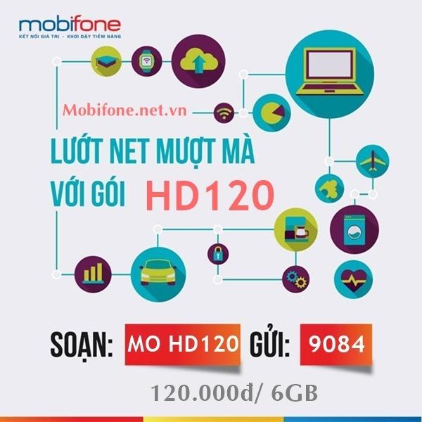 Đăng ký gói cước HD120 Mobifone chỉ 120.000đ