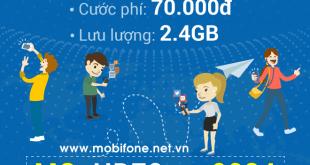 Đăng ký gói cước HD70 Mobifone chỉ 70.000đ có ngay 2,4GB tốc độ cao