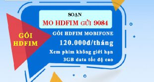 Đăng ký gói cước HDFIM Mobifone chỉ 120.000đ