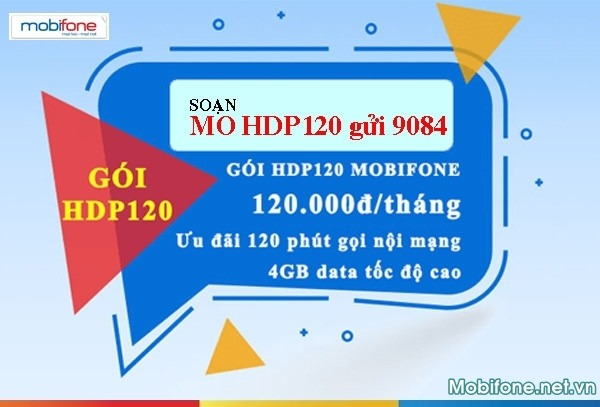 Đăng ký gói cước HDP120 Mobifone 120.000đ/tháng