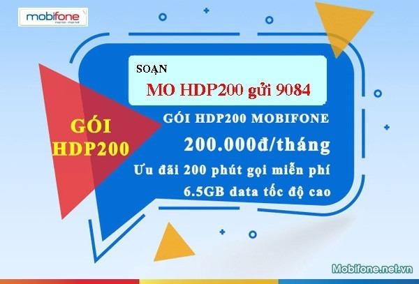 Đăng ký gói cước HDP200 Mobifone 200.000đ/tháng