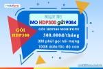 Đăng ký gói HDP300 Mobifone gói data plus 4G Mobifone
