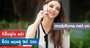 Mobifone khuyến mãi thuê bao hoà mạng trả sau tháng 10/2016