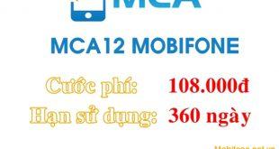 Đăng ký dịch vụ MCA12 Mobifone