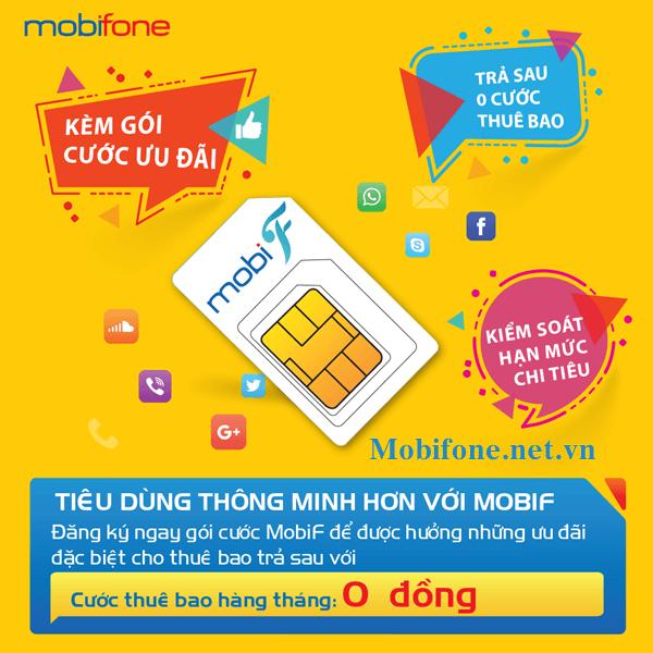 Hòa mạng trả sau MobiF Mobifone miễn phí cước thuê bao hàng tháng