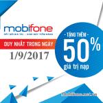 Mobifone khuyến mãi 1/9/2017 với 2 chương trình ưu đãi