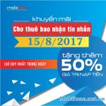 Mobifone khuyến mãi 15/8/2017 ưu đãi hấp dẫn