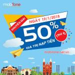 Mobifone khuyến mãi 19/1/2018 với 2 chương trình ưu đãi
