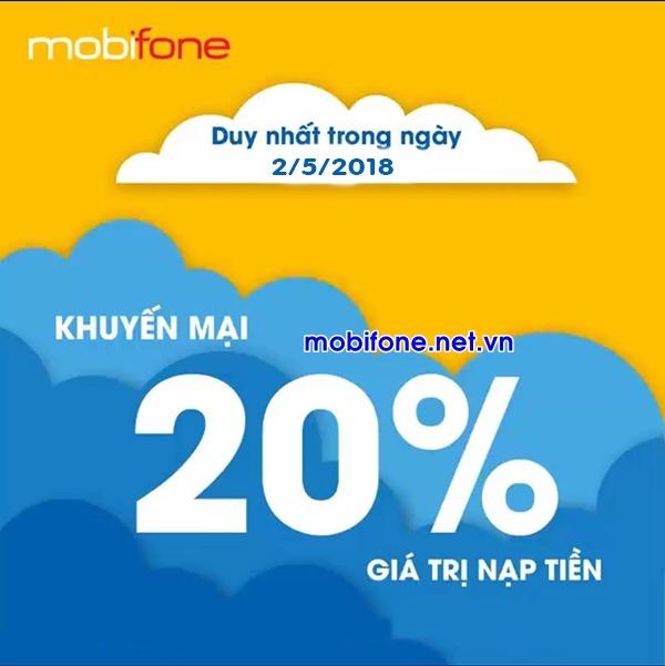 Mobifone khuyến mãi 2/5/2018 ưu đãi ngày vàng trên toàn quốc