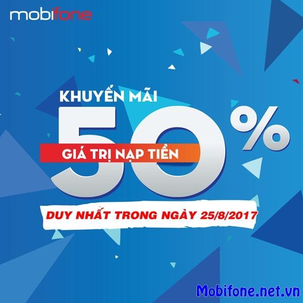 Mobifone khuyến mãi 25/8/2017 với 2 chương trình ưu đãi